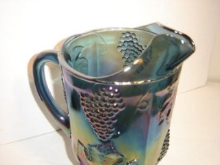 Indiana Glass Co Carnival Glass Harvest Grape Pitcher