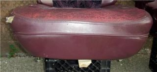 1992 1997 Ford Econoline Custom Van Pair of Purple Leather Seats Captain Chairs