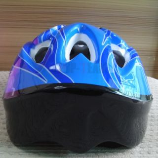 Blue Kids Children Skating Helmets Skateboard Bicycle Bike Cycling JF5B