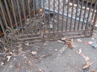 Original Art Deco Solid Iron Gate Grate Panel NY122