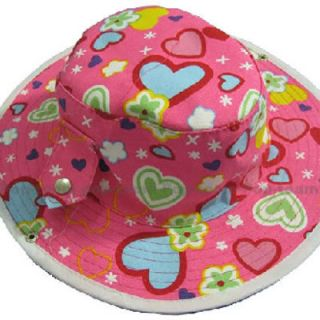 Girl Baby Toddler Beach Sun Summer Hat Cap 6M 4yrs J76R