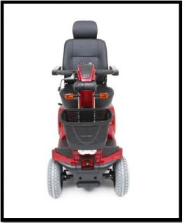 New Mega Motion MM5500DX Endeavor XL Red Electric 4 Wheel Power Chair Scooter