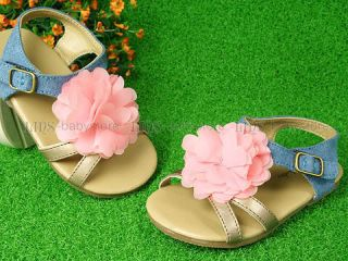 Toddler Kids Girl Flower Pink Purple Orange Sandals Flops Shoes US 6 7 8 9 10