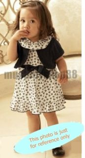 Lovely Girl Floral Print Black White Dress w Mini Coat Outfits 6 24 Months