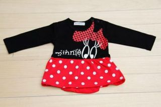 Girl Boy Baby Clothes Minnie Mickey Mouse Set Cotton Romper 0 24M