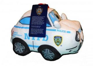 "Bronx Toys NYPD New York's Finest Police Cop Car Plush Toy ""New"""