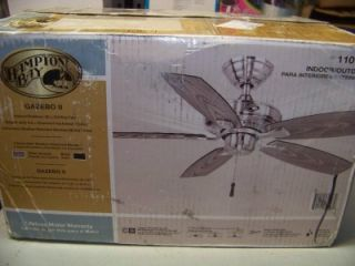 Hampton Bay Gazebo II 42 in Indoor Outdoor Brushed Nickel Ceiling Fan
