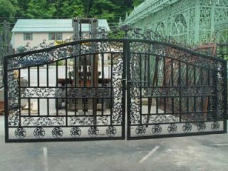 Victorian Style Cast and Tubular Iron Driveway Gates Gate 36