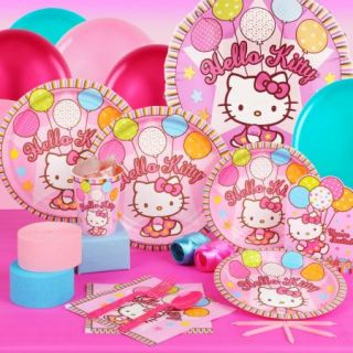 Hello Kitty Balloon Dreams Birthday Standard Party Pack Supplies Invitations New