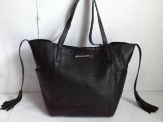 Michael Kors Black Leather Large Ashbury Grab Bag Tote Shoulder Bag $298 00