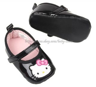 Infant Baby Girls Black Mary Jane Walking Shoes Size 6 9 9 12 Months