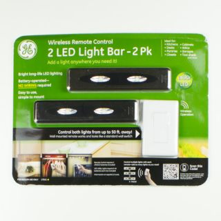 GE 2 LED Light Bar 2 Pack with Wireless Remote Control 17521 New
