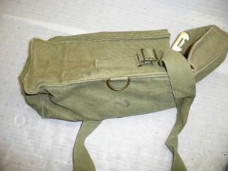 Vintage Bag US Army First Aid Kit Marines Bag Old Canvas Leather Blet Pouch