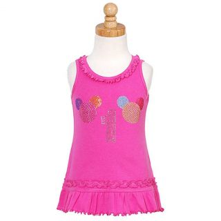 3PEARLSKIDS Pink Rhinestone Baby Girl 1st Birthday Dress 12M
