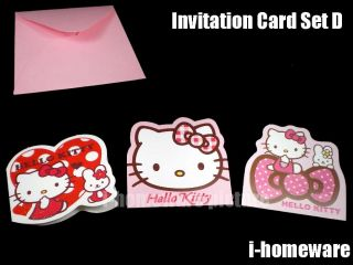 Hello Kitty Sanrio License Greeting Christmas Birthday Invitation Blank Card
