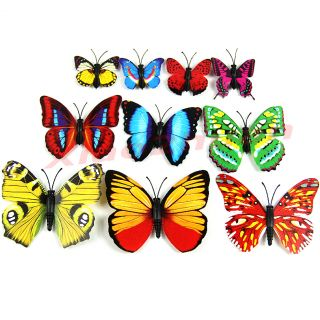 1pc 3D Magnetic Butterfly Fridge Home Room Wall Decor Decorative Sticker DIY