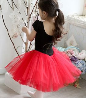 Girl Kids 3 7 Princess Ballet Dance Tutu Party Costume Flower Wedding Dress