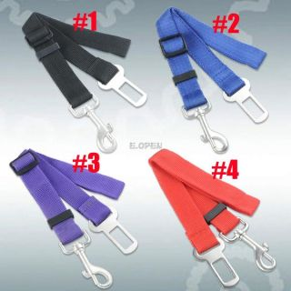 Strong Adjustable Car Auto Travel Safety Seat Belt Clip Strap for Pet Cat Dog