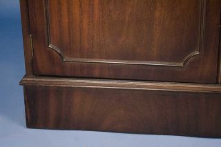 English Antique Style Mahogany Bookcase w ASTRAGAL Glass Doors