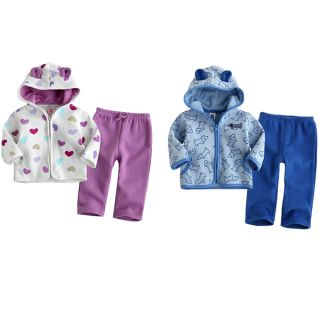 2pcs Baby Boys Girls Toddler Infant Warm Coat Top Pants Trousers Clothes 4Q
