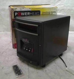 DURAFLAME 1000 Watt Infrared Quartz Electric Portable Heater Black Steel Finish