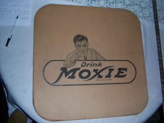2 Antique Vintage Retro Diner Moxie Soda Card Board Table Mat Art Sign Cover