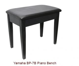 Yamaha PB 7B Piano Bench Chair Stool Black Comfortable Padded Seat Top Storage