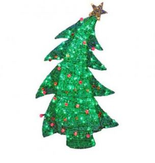 "48"" Swaying Christmas Tree Multi Colored LED Lights Outdoor Yard Decoration New"