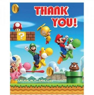 Super Mario Bros Wii Party Birthday Jointed Banner