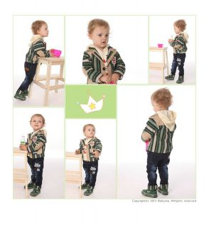 3pcs Set Suit Hoody Pants Handsome Baby Boys Clothes Kids Outfits Clothing Set