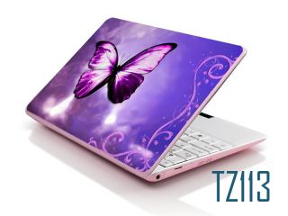 Laptop Notebook Sticker Cover Skin Protective Butterfly Purple 15 4 inch NEC IBM