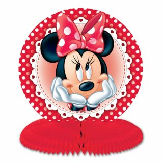 3 Disney Minnie Mouse Red Polka Dots Party Mini 14 5cm Table Centrepieces