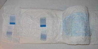 "Pkg 12 Disposable Briefs Med 32 44"" Wet Indicator Tape Tabs 2003 Adult Diapers"