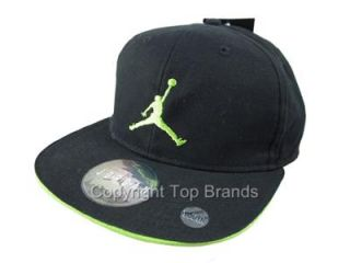 Boys Youth Nike Air Jordan Retro Snapback Cap Hat Lid Size 8 20 Black Green