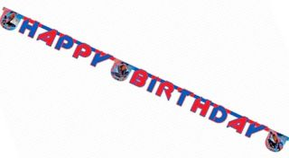 Spiderman Spider Man Party Decorations Happy Birthday Letter Banner