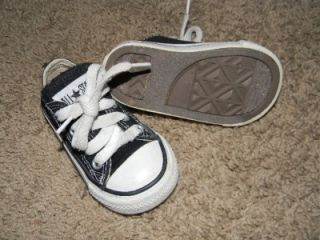Converse Infant Toddler Boys Size 4 Black Tennis Shoes