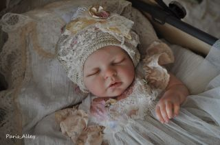 Grace French Lace Christening Dress Hat 4 Reborn Baby Doll