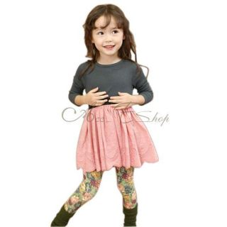 Girls Kids Long Sleeve Top Dress Hollow Tutu Party Costume Skirt Clothing Sz 2 6