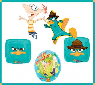 Phineas Ferb Mylar Happy Birthday Party Balloon Super Set Perry The Platypus
