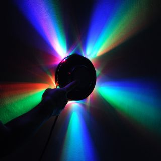 New Sunflower 48 LED RGB Light 8W Voice Activated Auto Rotating Party Stage