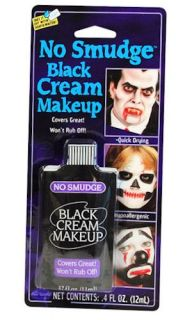 Halloween Clown Fancy Dress Costume Theatrical Non Smudge Make Up 12ml Black