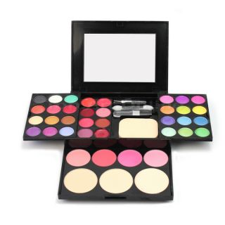 Multi Color Eyeshadow Lip Blush Face Powder Cosmetic Palette Makeup Kit