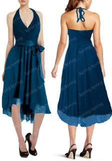 New Elegant Halter Party Cocktail Evening Dress AU Size 10 20 SP7
