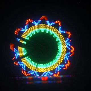 Waterproof 32 LED Colorful Bicycle Bike Cycling 32 Pattern Wheel Spoke Light