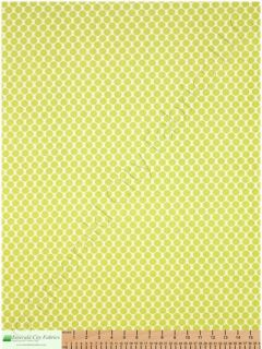 Amy Butler Lotus Full Moon Polka Dot Lime Cotton Fabric