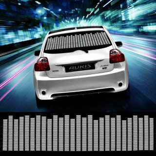 114 30cm White Car Sticker Music Rhythm LED Flash Lamp Sound Activated Equalizer