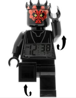 Darth Maul Lego Minifigures Alarm Clock Star Wars Collectable Novelty Gifts New