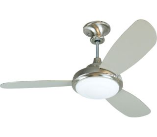 "Craftmade 52"" Triumph 3 Stainless Steel 3 Blade Remote Control Ceiling Fan"