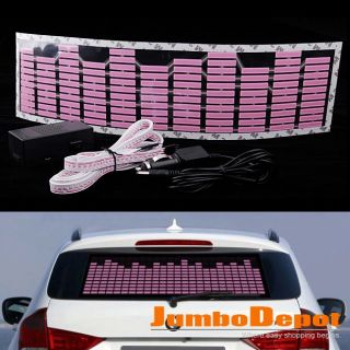 Music Rhythm Flash Lamp Sticker Sound Equalizer Decorative Pink Light Universal