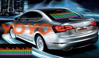 90 25cm 5 Colors Sound Music Activated Car Stickers Equalizer 12V LED Light